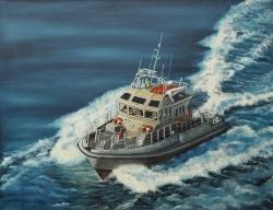 Patrol Boat    70 x 90 cm