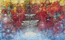 Sır Gemi  90 x 55 cm
