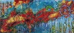 Sağanak Renkler  35 x 80 cm